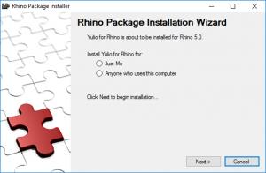 Install Yulio for Rhino