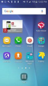Smartphone home, Yulio app