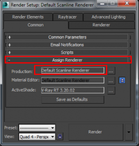 default scanline renderer, 3DS Max