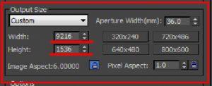 Configure render output