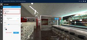 VR project, hotspot label