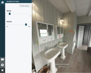 VR project hotspot, less opacity