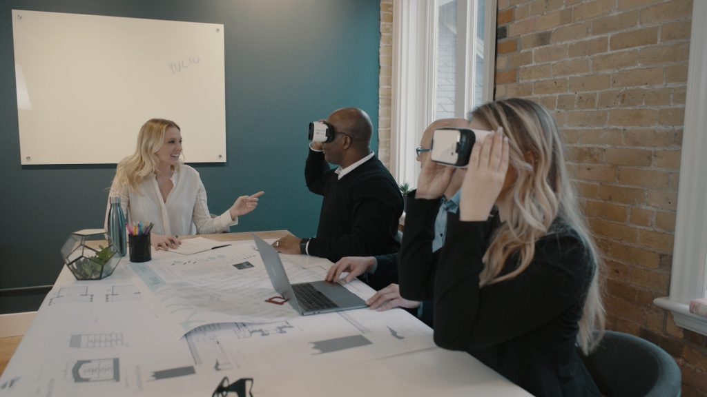 present your VR projects to clients