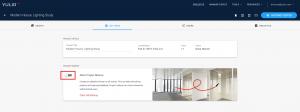 Yulio dashboard, project markup toggle